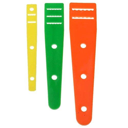 SODIAL 3 x pinzette per scarpe Strumenti per cucire elastici Filettatrici ad ago Ago di grandi dimensioni