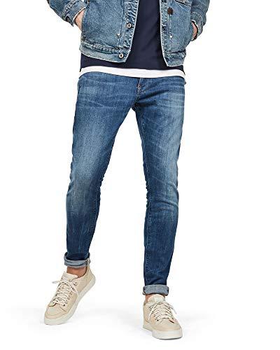 G-STAR RAW Revend Skinny Jeans, Medium Indigo Aged 8968-6028, 32W / 32L Uomo