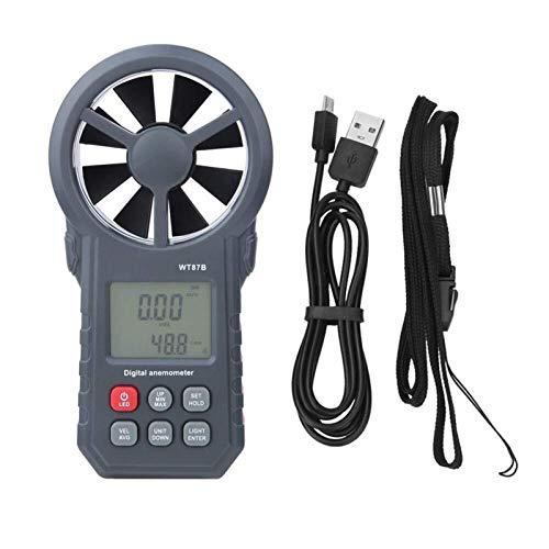 FYYONG Anemómetro digital, portátil de mano Bluetooth USB de velocidad del viento Medidor de viento de medidores de flujo de aire Termómetro Compatible with el windsurf Kiteflying con Max Min