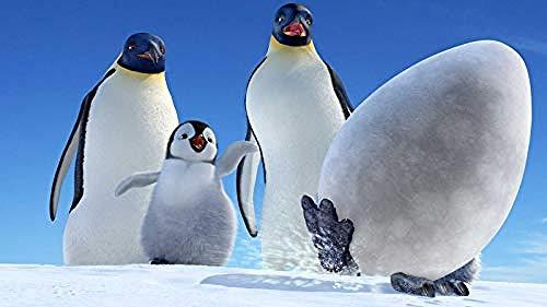 nobrand bbxpclcb Puzzles para Adultos 1000 Piezas Pingüino y Huevo Rompecabezas clásico Madera Adultos Niños Arte DIY Cerebro Desafío Fin de Semana relajación-75x50cm