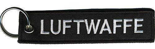 Fan-O-Menal Stof Sleutelhanger met Borduurwerk - Air Force - 14129-4 Zwart