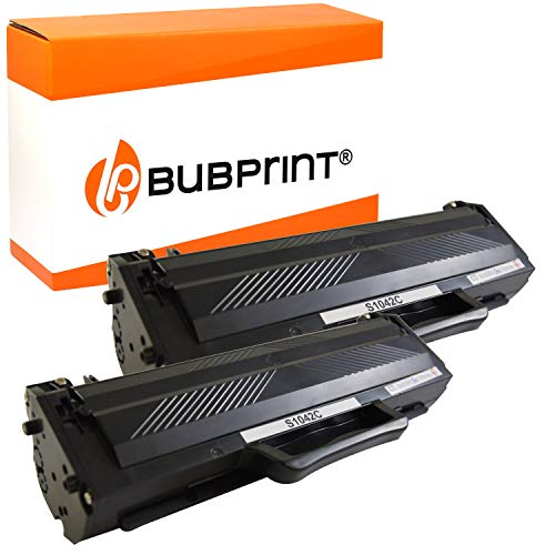 2 Bubprint Cartucce Toner compatibili per Samsung MLT-D1042S/ELS per ML-1660 ML-1865 ML-1670 ML-1675 ML-1860 SCX-3200 SCX-3205 SCX-3205W 1,500 Pagine Nero