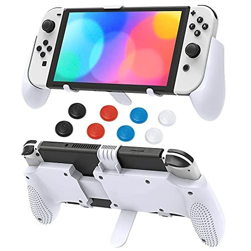 Soporte de agarre para Nintendo Switch OLED modelo 2021/para Nintendo Switch/para Nintendo Switch Lite, MENEEA ajustable plegable ergonómico mango agarre soporte para interruptor OLED modelo consola