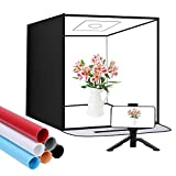 SAMTIAN Photo Light Tent, 16' Shooting Tent, Protable Photography Box, 3200K-5500K Light Box Studio Kit with 6 Color Background Papers(Black/White/Blue/Gray/Red/Beige), CRI≥95