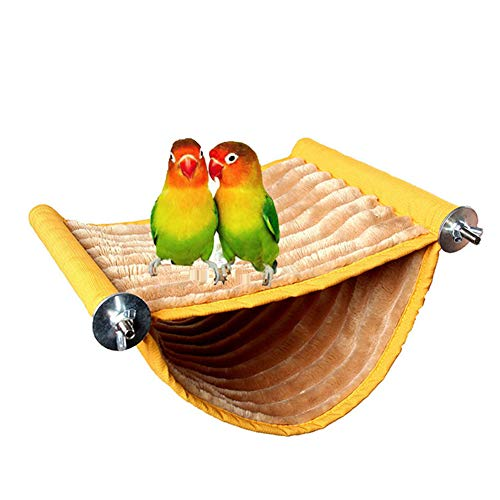 Bird Nest House Hanging Hammock Bed Toy for Pet Parrot Budgie Parakeet Cockatiel Conure Cockatoo African Grey Amazon Lovebird Finch Canary Hamster Rat Gerbils Chinchilla Guinea Pig Cage Perch (M)
