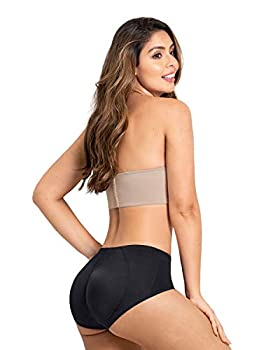 Leonisa Womens Butt Lifter Padded Boyshort Panty Shaper,Black,X-Large