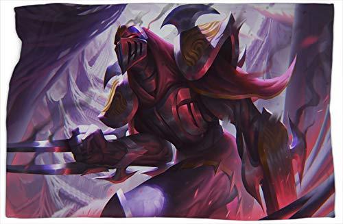Zed League Legends - Manta de lujo con estampado de leyendas, súper suave, cálida y cómoda, mantas y mantas de 40 x 50 pulgadas
