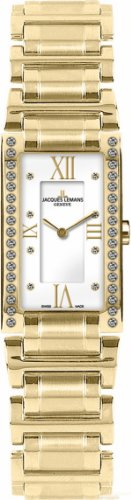 Jacques Lemans Women's G-228I Gloria Classic Analog Sapphire Glass and Genuine Diamonds Watch