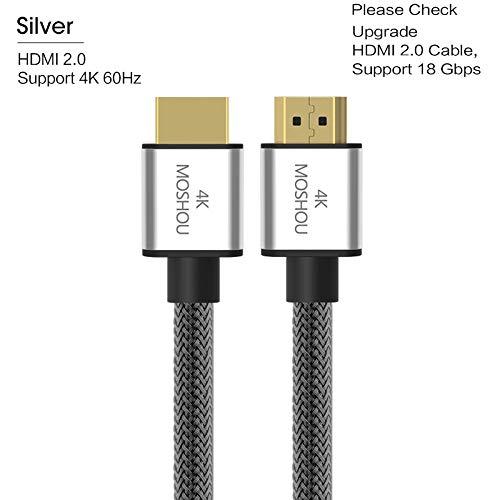 HDMI 2.0b 2.1 Kabels 8K 4K 60 Hz MOSHOU 48 Gbps ARC High Definition Video Cord voor Versterker TV 4K HDMI 2.0-kabels, 25 cm (0,82 ft)