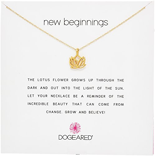 """Dogeared Reminder New Beginnings Sterling Silver Rising Lotus Pendant Necklace, 16"""" + 2"""" Extender"""