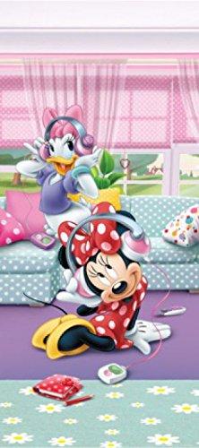 1art1 Walt Disney - Minnie Maus & Daisy Duck Hören Musik Fototapete Poster-Tapete 202 x 90 cm