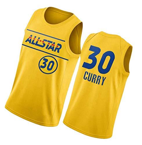 paglutaw Hombres Curry Entrenamiento de Baloncesto Guerrero Jerseys Transpirable Deportes NO.30 Oro de Manga Corta