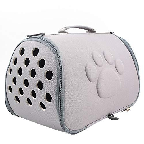AILOVA Pet Travel Carrier,Tragbare Faltbare,Atmungsaktive,Weiche Eva Pet Travel Carrier Katzentasche Umhängetaschen (Grau)