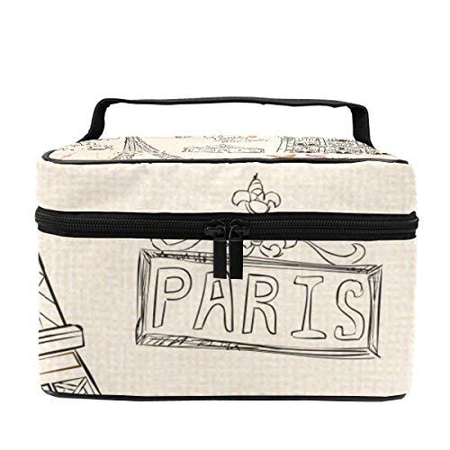 Make-up-Tasche für Damen, Zug, Kosmetikkoffer, Organizer, multifunktional, tragbare...