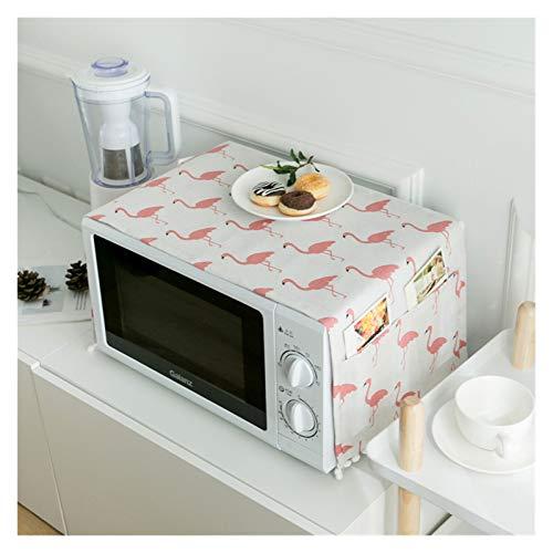 JINAN Housse de protection pour four à micro-ondes avec poche en coton épais et lin (couleur : 4, taille : 30 x 90 cm)