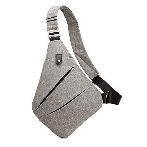 Ovecat – Sac bandoulière pour hommes et femmes, gris clair