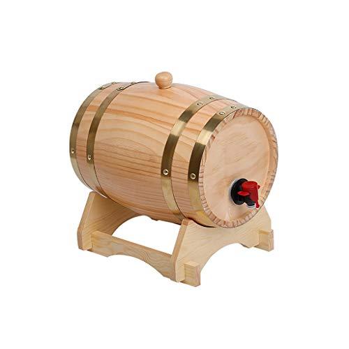 Barril De Vino 3L / 5L / 10L / 15L / 20L / 30L,Roble Cubo Decorativo For El Hogar Duradero Con Estante For Vino Adecuado For Almacenar Licor De Whisky Con Ron De Vino(Enviar Botellero)(Size:20L)
