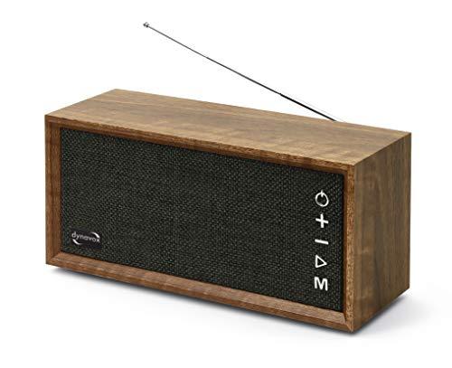 Dynavox FMP3 BT, kompaktes FM-Küchenradio in edlem Holz-Design, portabler Wireless-Lautsprecher mit BT-Funktion, Lange Akku-Laufzeit