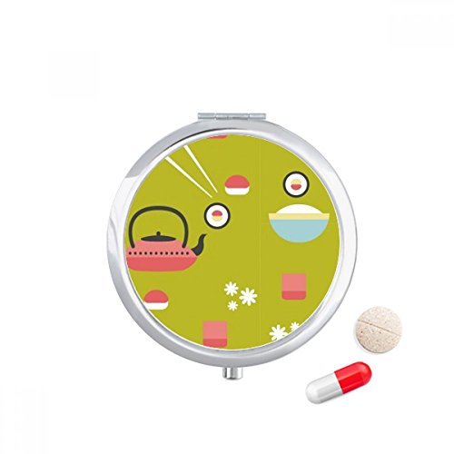 DIYthinker Rice Theepot Cup Sushi Japan Travel Pocket Pill case Medicine Drug Storage Box Dispenser Spiegel Gift