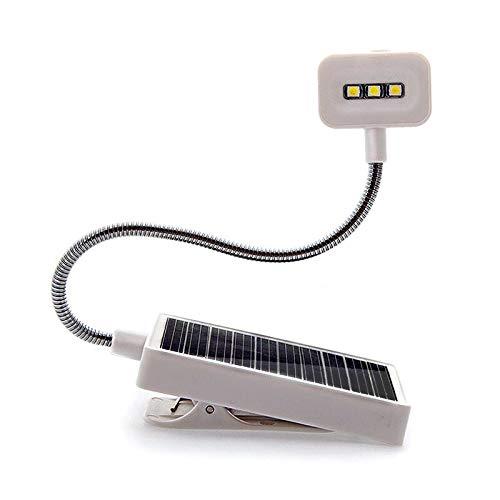 Lampada da tavolo Luci da scrivania Indoor Led Solar Battery Torce Mini Portatile Libro Lampade LED Clip per la lettura Studio Risparmio Energetico Desk Lights