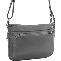 b5050a25c3 A classic anti-theft crossbody here in ripstop slash-proof material and all  the security features you d expect. Available in black