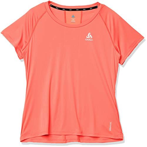 Odlo T-Shirt Ceramicool Element Crew Neck pour Femme S Corail