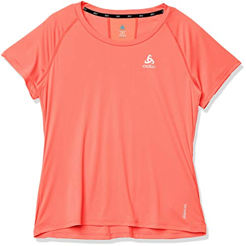 Odlo T-Shirt Ceramicool Element Crew Neck pour Femme XL Corail