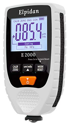 """Elpidan - Paint Thickness Gauge Meter – Coating Thickness Gauge – Paint Depth Gauge Meter 
