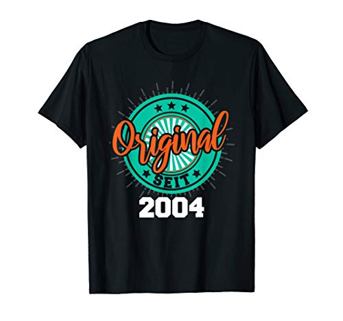 16. Geburtstag Party Geschenk Mädchen Jungen Original 2004 T-Shirt