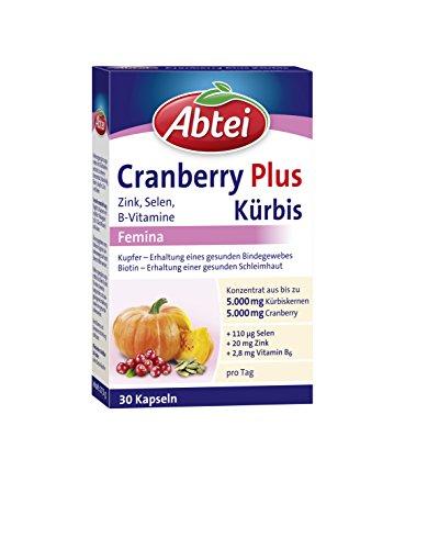 Abtei Kürbis Plus Cranberry Femin, 30 Stück