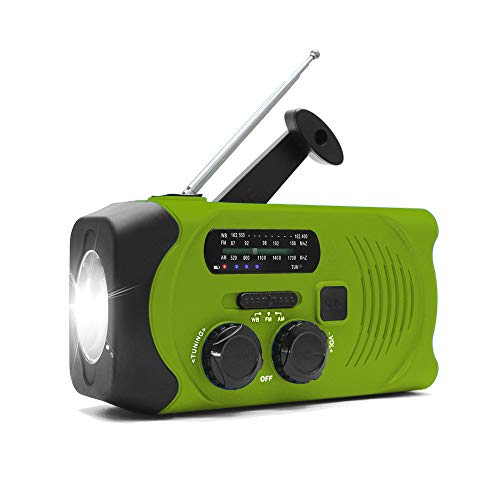 Crihome 防災ラジオ 大容量2000mA 防災ソーラーラジオ SOSアラート 手回し充電ラジオ AM/FMラジオ ラジオライト 多機能 緊急ラジオ USB充電 太陽光充電 手回し充電 スマホ充電対応可能 非常用 防災 停電緊急対策