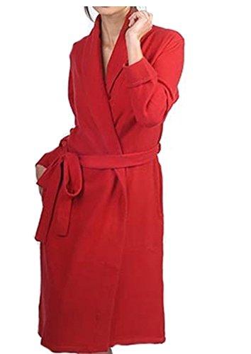 Balldiri Premium Cashmere Damen Bademantel 4-fädig samtrot S