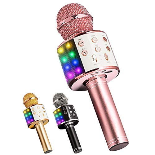 Learn More About B bangcool Wireless Microphone Multi-Purpose LED Karaoke Microphone Speaker