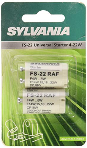 Sylvania syl0024426–Juego de 2Starters FS 22aluminio 4-22W blanco