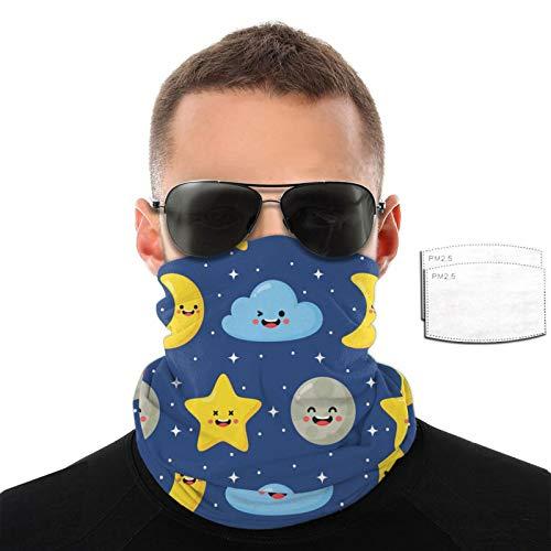 Bebé lindo estrellas luna y nubes hombres mujeres deportes al aire libre viento transpirable variedad toalla facial