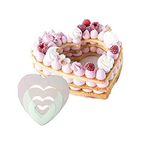 Plastique bricolage pâtisserie décoration de la Saint-Valentin moule à gâteau, accessoires de cuisine ustensiles de cuisson, moule(10inch)