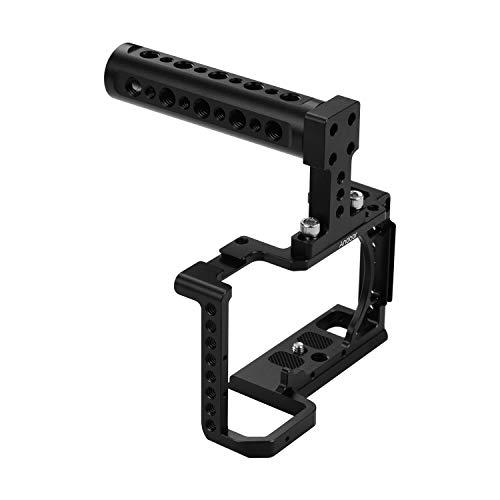 Andoer - Jaula de cámara con asa superior compatible con Sony A6600 A6500 A6400 A6300 A6000