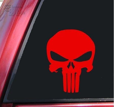 Punisher 2 K Skull Vinyl Aufkleber Aufkleber Rot Auto