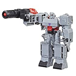 4.25-INCH MEGATRON FIGURE: 4.25-inch 1-Step Changer Megatron Action Attackers figure inspired by the Cyber verse animated series. Makes a great gift. REPEATABLE ATTACK MOVE: Simply convert the evil Deception Megatron to activate signature Fusion Mega...
