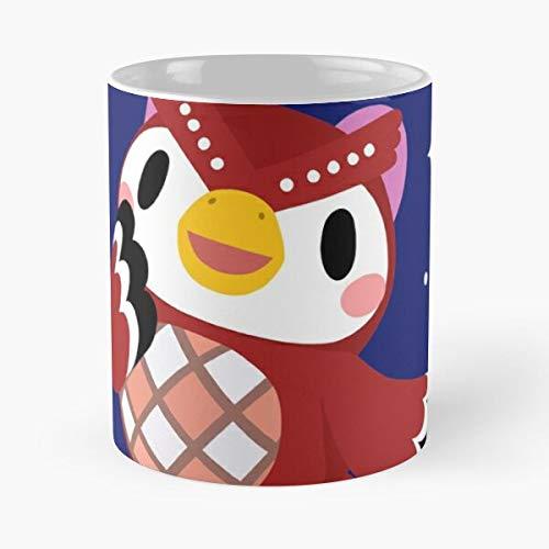Berealandco Acnh Stars Shooting Owl Crossing Cute New Celeste Animal Horizons Best 11 oz Kaffeebecher - Nespresso Tassen Kaffee Motive
