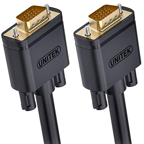 Unitek VGA 3m Kabel, 1080P VGA/SVGA Video Monitor coaxial Verlängerungskabel HD mit 2 ferritfilter/vergoldeten Kontakte/15-polig HD Stecker, kompatibel für Projektoren, Hdtvs, Displays Y-C504G