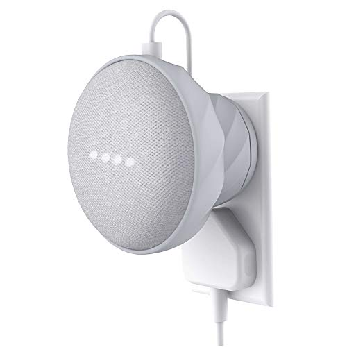KIWI design Supporto Compatibile con Home Mini di Google, Supporto da Parete Silicon per Home Mini (Grigio Chiaro)