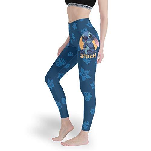 stitchy Mädchen Caprihose Leggings Neuheit Aktiv Yoga Hosen Dünn Normal Capris Tights für Laufen White xs