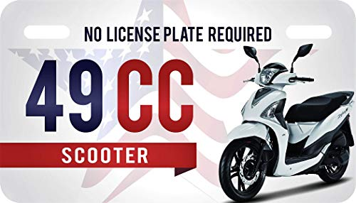 USA Patriotic 49cc License Plate for Mopeds and Scooters