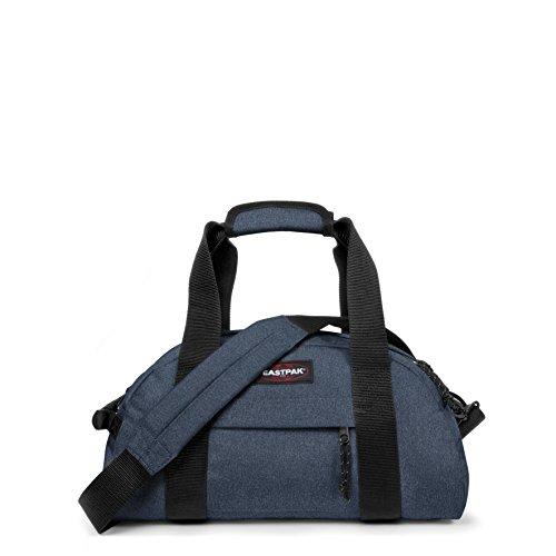 Eastpak Compact Bolsa de Viaje, Diseño Double Denim, 23 Litros, Color Azul