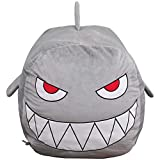 Shark Stuffed Animal Toy Storage Boys Bean Bag Chair Cover Velvet Extra Soft Large Size Storage Stuff Organization Replace Mesh Toy Hammock for Kids Toys Blankets Towels Clothes Household Supplies