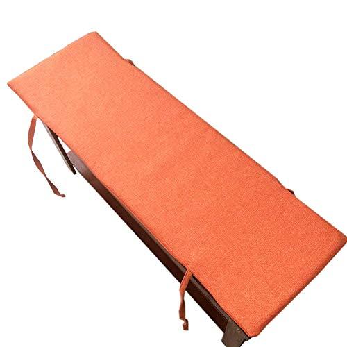 GWFVA Cojín acolchado con funda extraíble para asiento de 2 plazas con banco de asiento al aire libre, cojín para silla de jardín, repuesto para tumbona de jardín