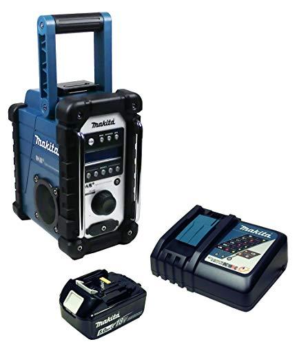 Makita DMR 110 Baustellenradio mit Mini-USB mit Akku 5 Ah + Ladegerät