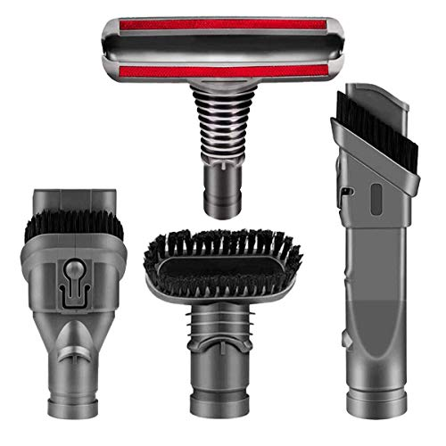 Replacement Attachments Tools Kit for Dyson V6 DC24 DC33 DC35 DC39 DC44 DC58 DC59 DC62 DC74, Dyson Cordless Vacuum Accessories (4 Pcs Set Brush Kit)