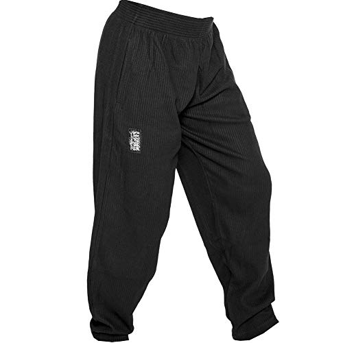 C.P.Sports S10 Pantaloni da uomo da allenamento, fitness, bodybuilding, jogging, nero, M = 6